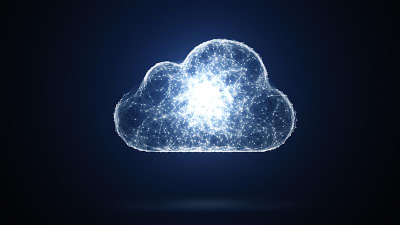 Crystalline image of a cloud