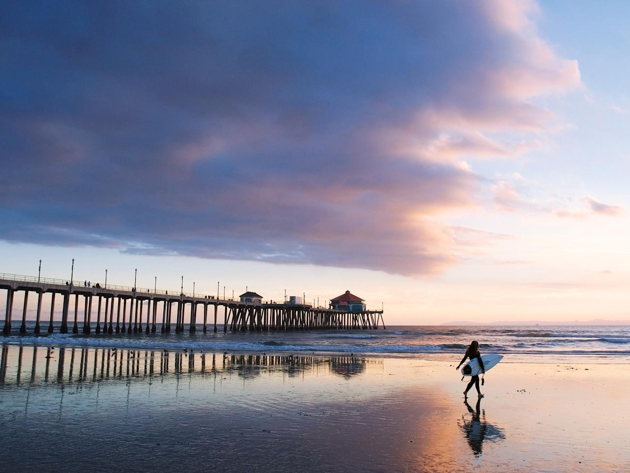 "<p><strong>Why we love it:</strong> This town is known as Surf City, USA, for a reason: Huntington City Beach has the most consistent break in the country, making it popular with both first-time and experienced surfers. As a bonus, you'll also get some five-star people watching all along the Huntington Beach Pier. To avoid the crowds, place your beach blankets down north of the pier. (When you're officially over the crowds, split for Bolsa Chica Beach, a 10-minute drive away.)</p> <p><br> <strong>How to get there:</strong> If you're coming from <a href=""https://www.cntraveler.com/destinations/los-angeles?mbid=synd_yahoo_rss"">L.A.</a>, just zip down the 405 and take the Seal Beach exit. From there, head south on the Pacific Coast Highway until you hit the pier. </p> <p><br> <strong>Other things to do:</strong> The pier is one the longest on the West Coast. At the end you'll find a Ruby's Diner, which has the popular Jan & Dean's tiki lounge on the second floor. For a change of scenery, drive 15 minutes to Newport Beach and visit the Upper Newport Bay Nature Reserve or stroll through the charming <a href=""https://www.visitnewportbeach.com/vacations/balboa-village/"">Balboa Village.</a></p>"