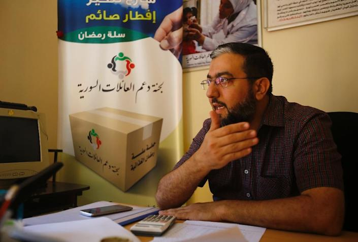 Mazin Samih, pictured in his office November 25, 2015, operates Hawa Kitchen -- Eve Kitchen in English -- as part of an effort established by Khartoum's Syrian diaspora to support families who have taken refuge in the Sudanese capital since 2011 (AFP Photo/Ashraf Shazly)