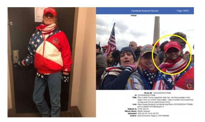 The FBI also found statements in the Facebook account made by Jody Tagaris that she was traveling to Washington, D.C. on or about January 5, on a 6:00 p.m. flight to attend President Trump's rally and that she would be making posts to let everyone know that she was ok.