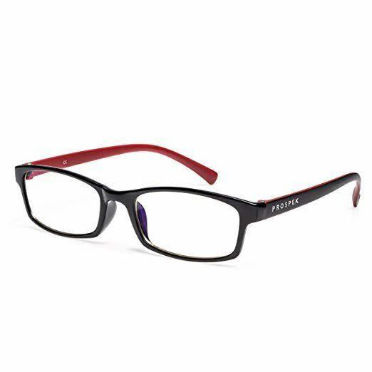"""These readers come with blue light-blocking technology. Choose from black or red and black frames, and magnification from 0.00 to +3.00 <a href=""""https://amzn.to/2OanEtc"""" rel=""""nofollow noopener"""" target=""""_blank"""" data-ylk=""""slk:Get them for $40 on Amazon"""" class=""""link rapid-noclick-resp"""">Get them for $40 on Amazon</a>."""