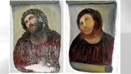 Ruined Spanish Fresco Monkey Jesus' costume makes rounds on Internet