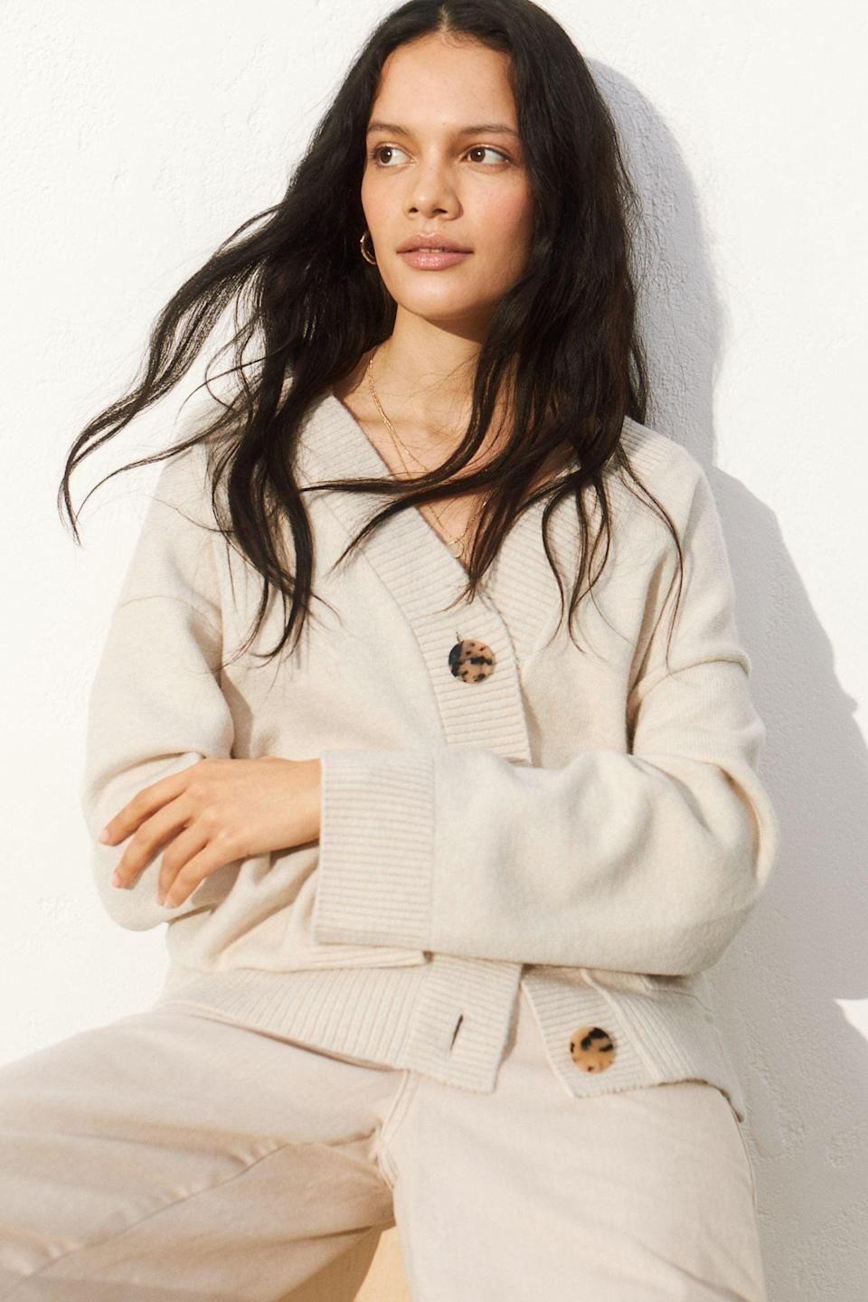 <p>We all need a cozy <span>Oversized Cardigan</span> ($30) in our closet.</p>