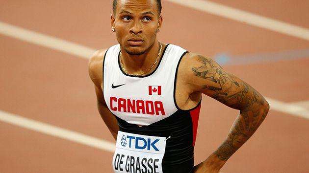 De Grasse at this year's world championships. Image: Getty