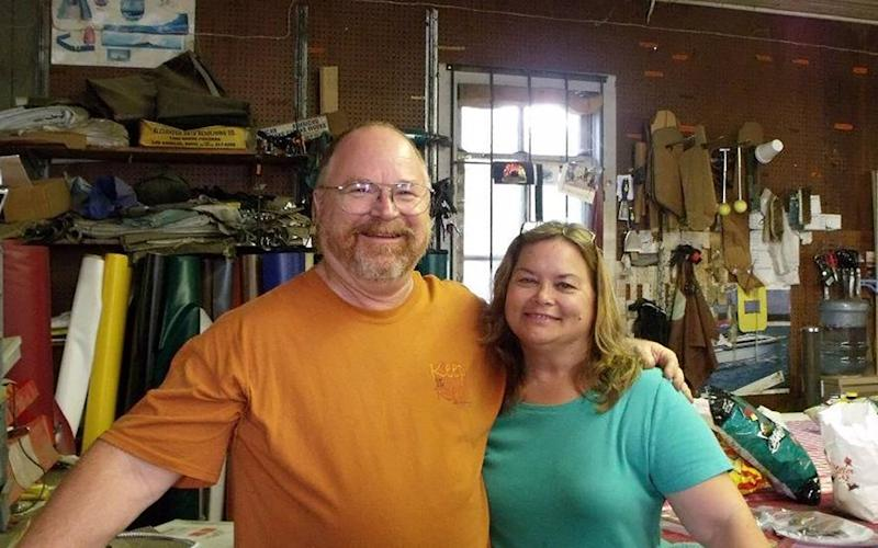 Husband Bryan Holcombe and wife Karla Plain Holcombe, victims of the mass shooting at the First Baptist Church in Sutherland Springs, Texas, are seen in this photo obtained Nov. 6, 2017.