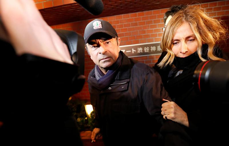 Japan issues arrest warrant for Carlos Ghosn's wife