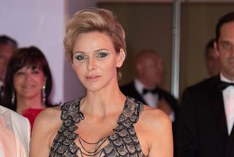 Princess Charlene Is Queen Of Sensual Style In A Flirty Versace Gown