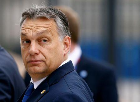 FILE PHOTO: Hungary's PM Orban arrives for the NATO Summit in Warsaw