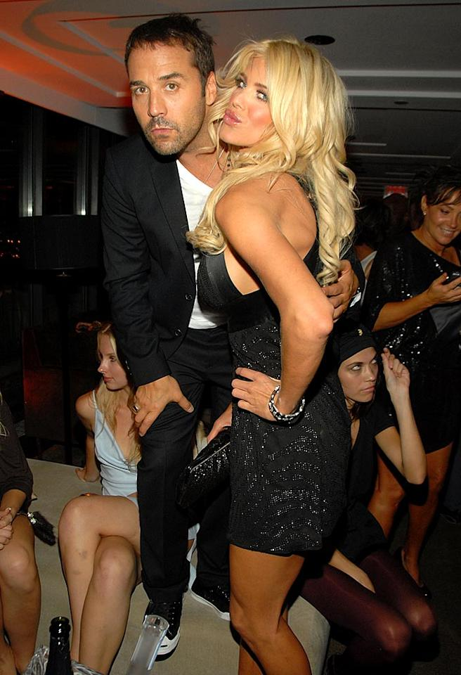 "Jeremy and Victoria Silvstedt are ready to dance on the table tops at the Fashion Rocks after party held at the Rainbow Room in NYC. Kevin Mazur/<a href=""http://www.wireimage.com"" target=""new"">WireImage.com</a> - September 6, 2007"