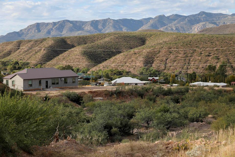 """View of La Mora or La Morita ranch in Bavispe, Sonora, Mexico, on Nov. 6, 2019, belonging to the Mexican-American LeBaron family. Mexican authorities said they believe a drug cartel called """"La Linea"""" was responsible for the murder of three women and six children."""