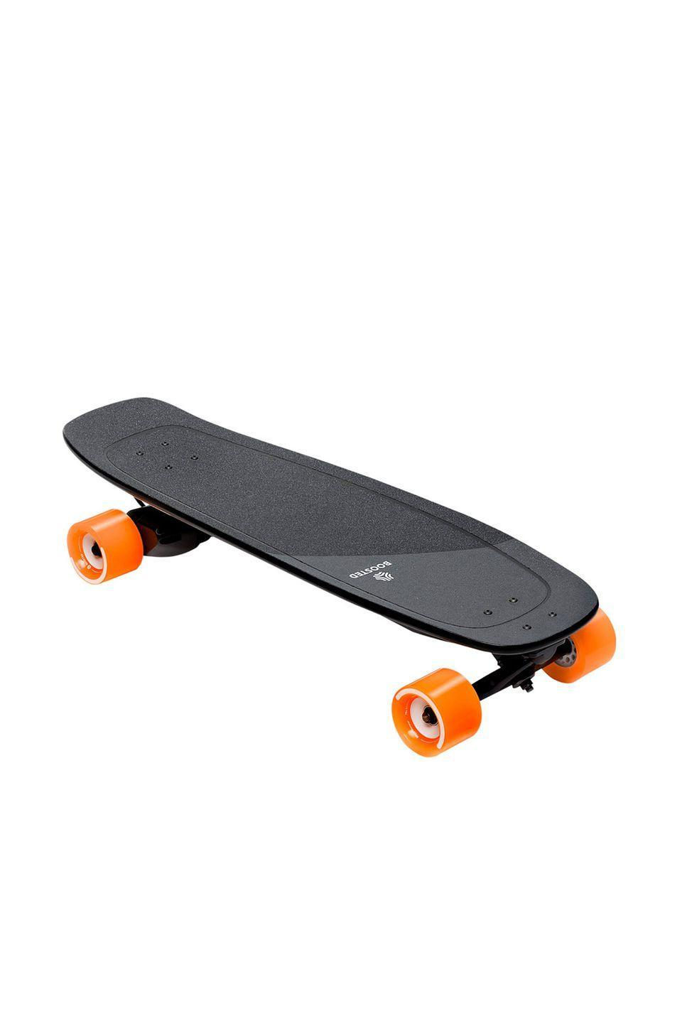 """<p>Jamming out to """"Sk8er Boi"""" by Avril Lavigne will never be the same. </p><p>Boosted mini electric skateboard, $749, <a href=""""https://boostedboards.com/"""" rel=""""nofollow noopener"""" target=""""_blank"""" data-ylk=""""slk:boostedboards.com"""" class=""""link rapid-noclick-resp"""">boostedboards.com</a></p>"""