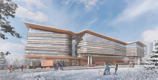 The first parcel of land to be developed will be just west of the new central library. The final design of the library, shown here, was also approved by the NCC board Wednesday.