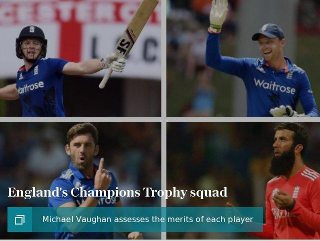 England's Champions Trophy squad