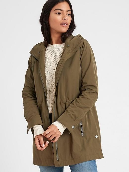 <p>This oversized, water-resistant <span>Banana Republic Commuter Jacket</span> ($161, originally $179) is also lined so you stay toasty even if you're not technically commuting. </p>