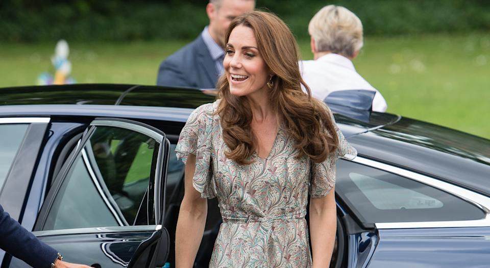 The Duchess of Cambridge's Ridley London dress is now available to pre-order [Photo: Getty]