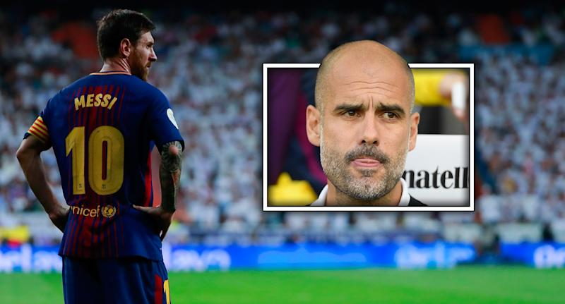 Pep Guardiola believes someone could activate Lionel Messi's release clause this summer.