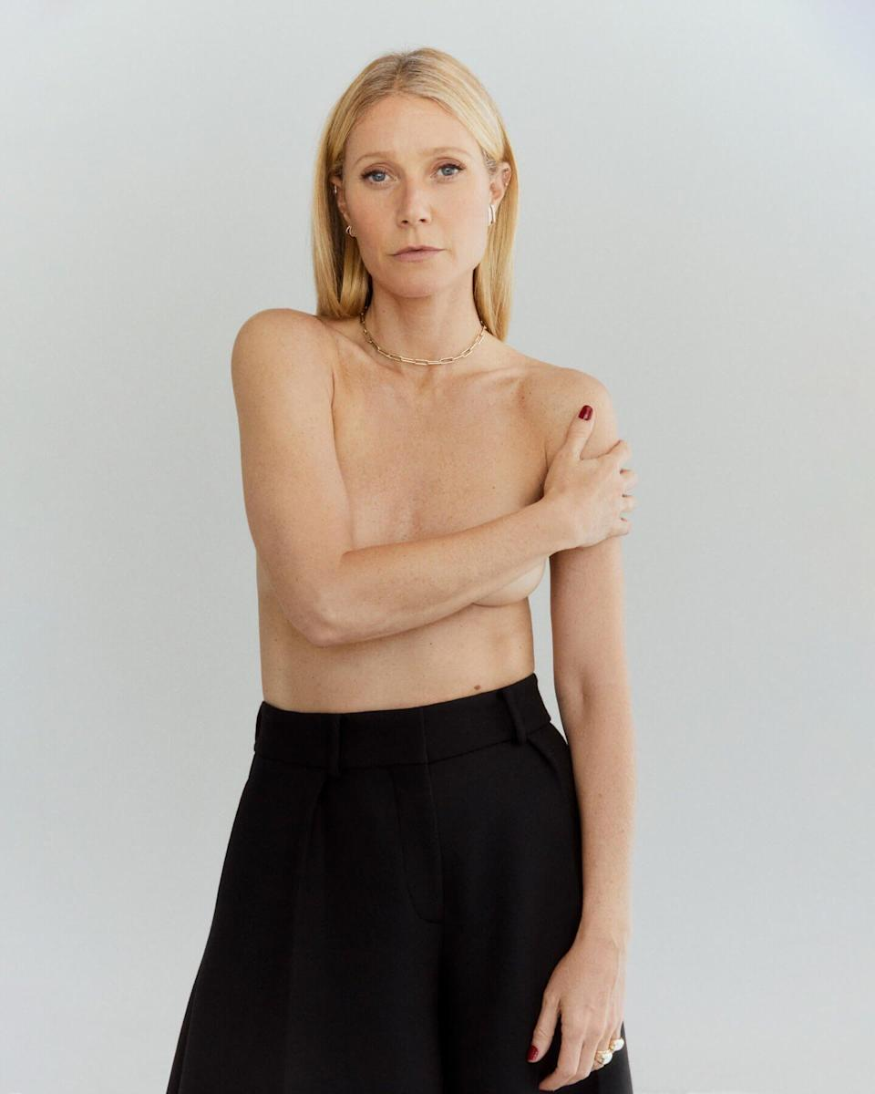Gwyneth Paltrow Posed Topless for Goop Jewelry Collection