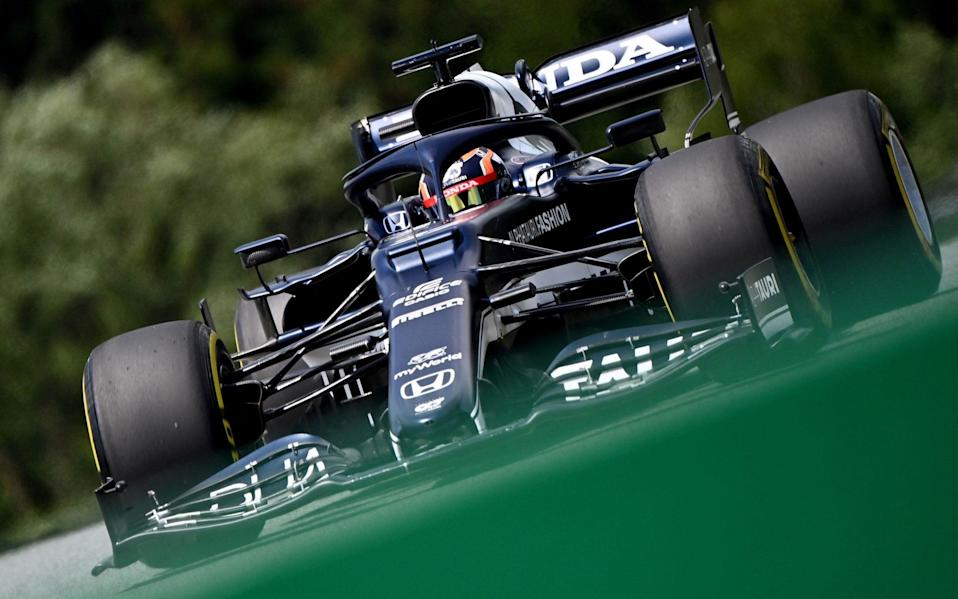 AlphaTauri's Japanese driver Yuki Tsunoda drives during the first practice session at the Red Bull Ring race track in Spielberg, Austria, on June 25, 2021, ahead of the Formula One Styrian Grand Prix - JOE KLAMAR/AFP via Getty Images