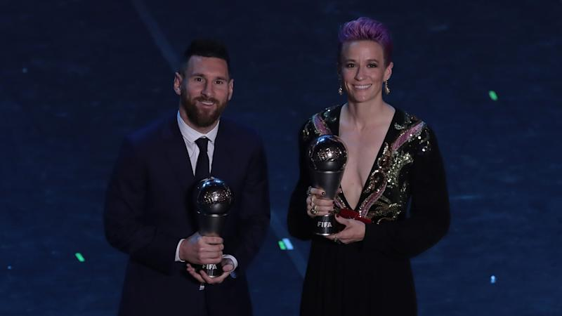 Rapinoe asks Ronaldo and Messi to 'help' in fight against racism, sexism