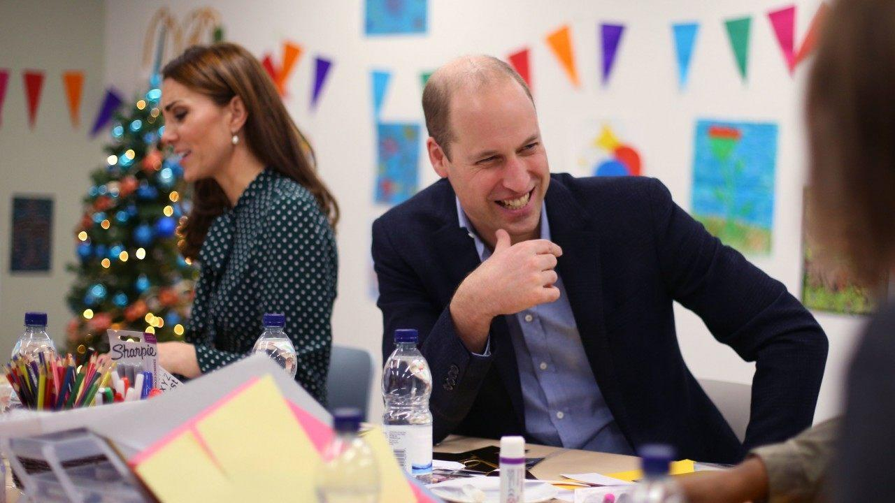 The Duke and Duchess of Cambridge took part in an arts and craft session during their visit to a homeless charity on Tuesday.