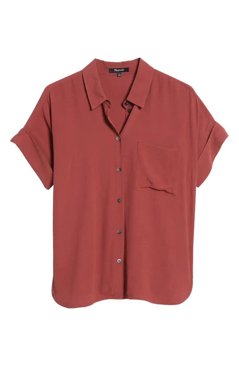 <p>This <span>Madewell Daily Drapey Shirt</span> ($80) is a great wardrobe staple.</p>