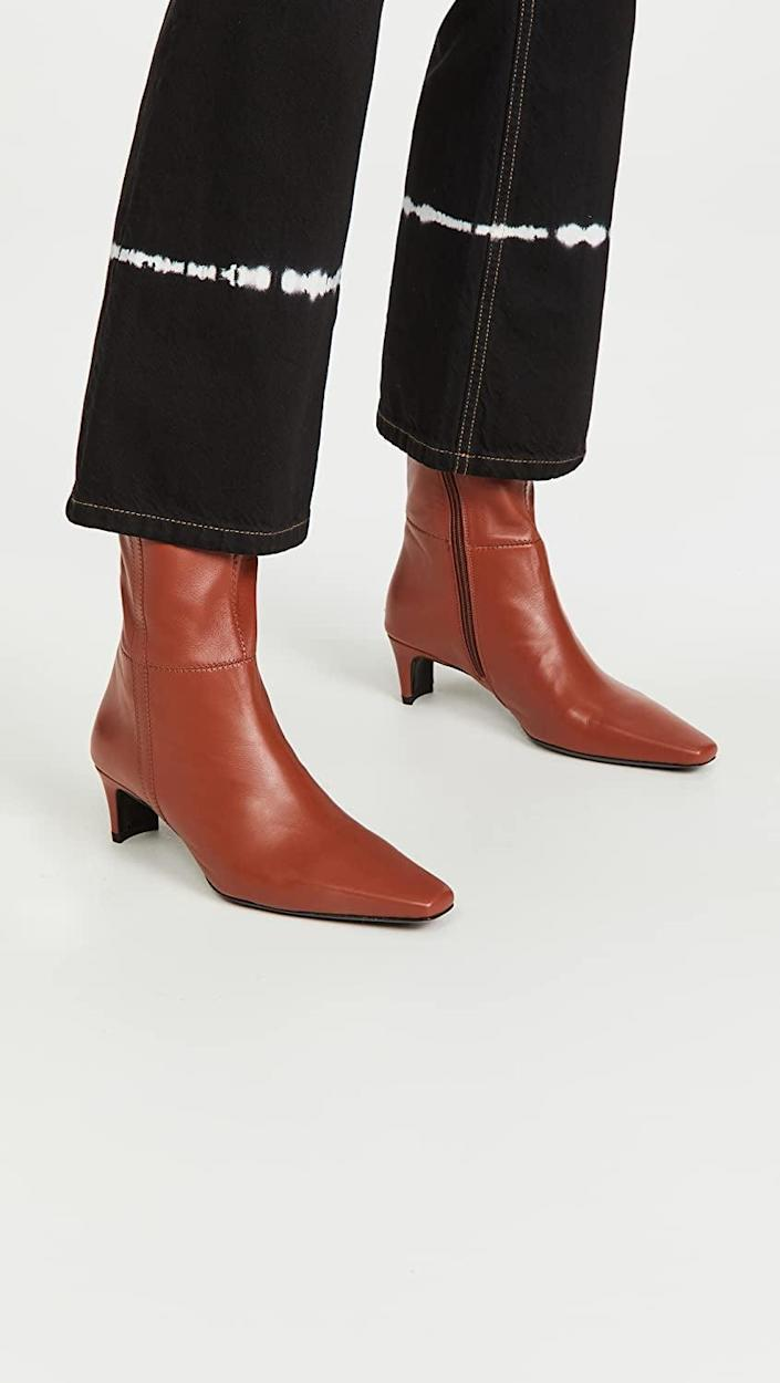 <p>These splurge-worthy <span>STAUD Lars Boots</span> ($450) are high on our wish list. We just love the effortlessly stylish look from the shape of the heels to the toes. Pair them with your favorite skinny jeans.</p>