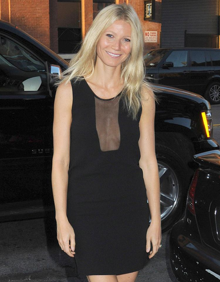 Celebrity guests arrive curbside for the launch to the new Lifetime Television show 'The Conversation', held at the DVF Studio in the Meat Packing District of NYC. Pictured: Gwyneth Paltrow Ref: SPL390105 060512 Picture by: Johns PKI / Splash News Splash News and Pictures Los Angeles: 310-821-2666 New York: 212-619-2666 London: 870-934-2666 photodesk@splashnews.com
