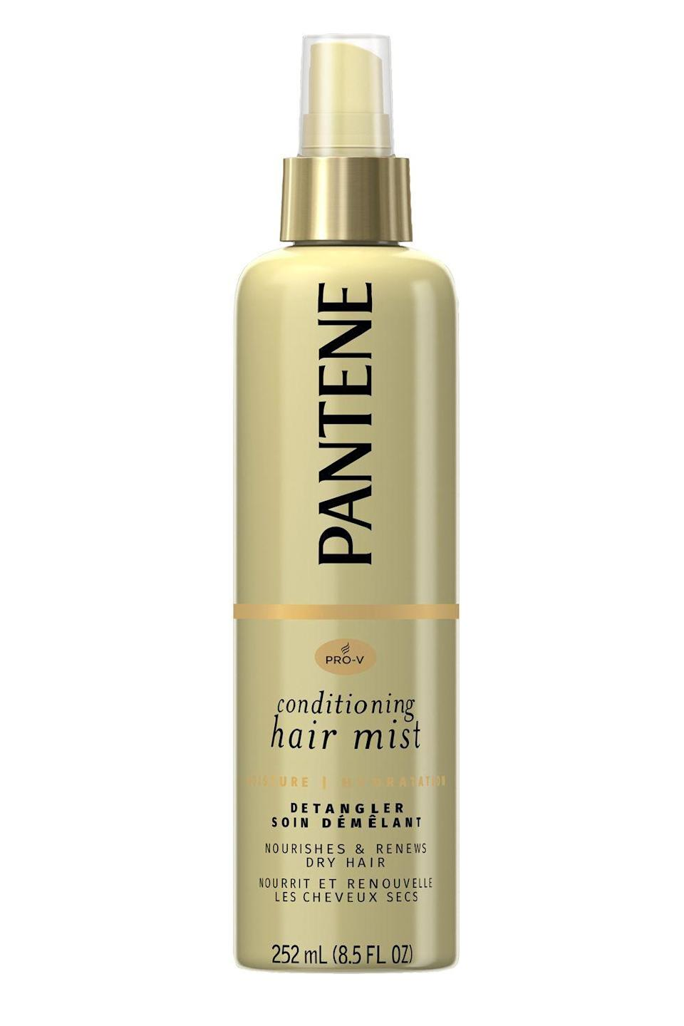 "<p><strong>Pantene</strong></p><p>amazon.com</p><p><strong>$5.97</strong></p><p><a href=""https://www.amazon.com/dp/B008Q8XMV2?tag=syn-yahoo-20&ascsubtag=%5Bartid%7C10049.g.27091073%5Bsrc%7Cyahoo-us"" rel=""nofollow noopener"" target=""_blank"" data-ylk=""slk:Shop Now"" class=""link rapid-noclick-resp"">Shop Now</a></p><p>Proof that you don't need to drop an entire paycheck to get yourself a really good detangler? This <a href=""https://www.cosmopolitan.com/style-beauty/beauty/g25019634/best-drugstore-shampoo-brands/"" rel=""nofollow noopener"" target=""_blank"" data-ylk=""slk:drugstore"" class=""link rapid-noclick-resp"">drugstore</a> option from Pantene. The lightweight mist <strong>uses panthenol to hydrate and detangle wet or damp hair</strong> without weighing it down for feeling sticky.</p>"