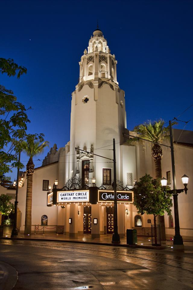 """<p>We love the decorations Carthay Circle gets each <a class=""""sugar-inline-link ga-track"""" title=""""Latest photos and news for Halloween"""" href=""""https://www.popsugar.com/Halloween"""" target=""""_blank"""" data-ga-category=""""Related"""" data-ga-label=""""https://www.popsugar.com/Halloween"""" data-ga-action=""""&lt;-related-&gt; Links"""">Halloween</a> season, but during the party, watch out for Maleficent's vines destroying the building with projection mapping. <a href=""""https://www.popsugar.com/food/Trader-Joe-Candy-Corn-Popcorn-45354580"""" class=""""ga-track"""" data-ga-category=""""Related"""" data-ga-label=""""http://www.popsugar.com/food/Trader-Joe-Candy-Corn-Popcorn-45354580"""" data-ga-action=""""In-Line Links"""">Candy corn</a> might also be pouring out of the windows of the building at various points during the night.</p>"""