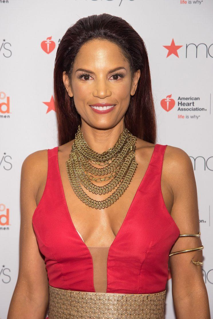 Veronica Webb on the red carpet at the American Heart Association's Go Red for Women Red Dress Collection 2017 during New York Fashion Week. (Photo by Mike Pont/WireImage)