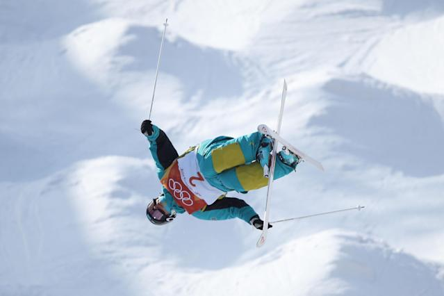 <p>PYEONGCHANG-GUN, SOUTH KOREA – FEBRUARY 08: Mogul Skier Dmitriy Reikherd of Kazakhstan trains ahead of the PyeongChang 2018 Winter Olympic Games. (Getty Images) </p>