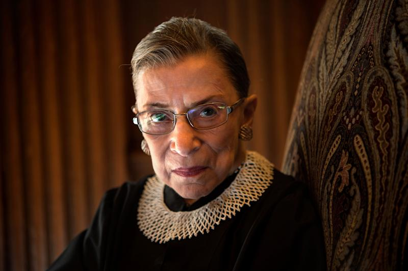WASHINGTON, DC - AUGUST 30: Supreme Court Justice Ruth Bader Ginsburg, celebrating her 20th anniversary on the bench, is photographed in the West conference room at the U.S. Supreme Court in Washington, D.C., on Friday, August 30, 2013. (Photo by Nikki Kahn/The Washington Post via Getty Images) (Photo: The Washington Post via Getty Images)