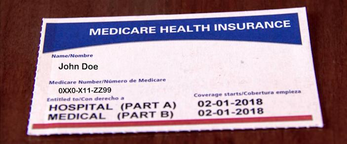 Medicare Card for a Fictitious John Doe