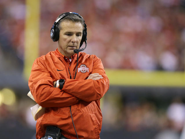 Urban Meyer is still awaiting his fate as the Ohio State Board of Trustees makes a decision on his future at the school. (AP)