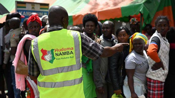 PHOTO: People queue to register for the Huduma Namba, May, 17, 2019, in Nairobi. (Simon Maina/AFP/Getty Images)