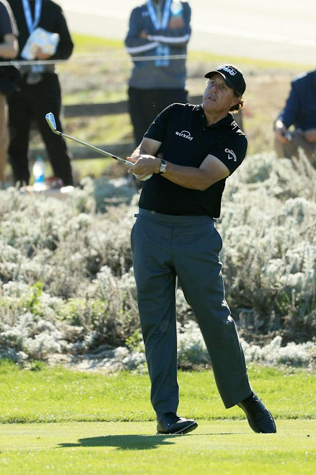 Phil Mickelson has two legs up on hitting it longer, straighter -- seriously