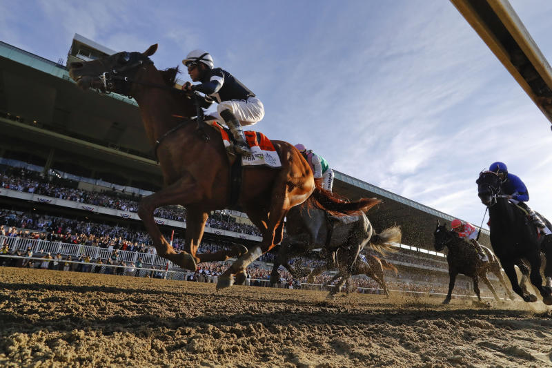For the first time ever, the Belmont Stakes will lead off the Triple Crown. (AP Photo/Seth Wenig)