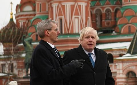 boris johnson and british ambassador - Credit: PA
