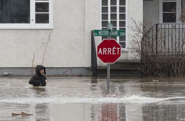 Rainfall warning heightens flood risk in southern Quebec