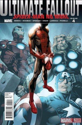 This handout image courtesy of Marvel Comics shows the cover art from Ultimate Comics Fallout #4 showing Spider-Man without his webbed mask to reveal a new face -- and it's black. In a revolution for one of the most enduring characters in comic books, Marvel Comics introduced a revamped Spider-Man whose alter-ego is a mild-mannered half-black, half-Latino teen from New York