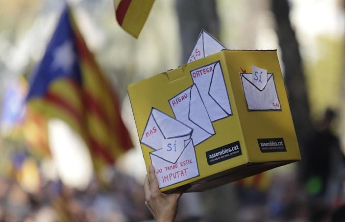 Catalonia held a symbolic vote in 2014 where over 80 percent of the participants (2.3 million) voted in favour of independence from Spain (AFP Photo/Pau Barrena)