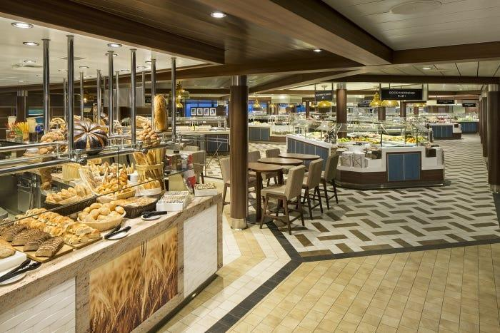 The Windjammer buffet area on Royal Caribbean's Oasis of the Seas will still be offered, but it will no longer be self-service.