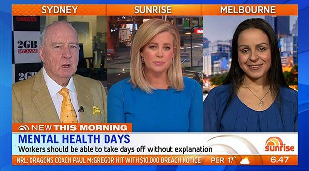 The panel agreed mental health was an issue facing workers. Source: Sunrise