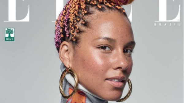 Alicia Keys Is Bare-Faced And Bold On 4 Epic New Elle Covers