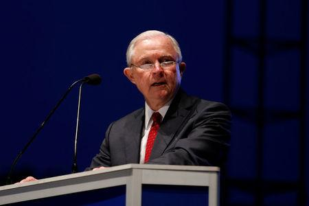 FILE PHOTO: U.S. Attorney General Jeff Sessions delivers remarks at the National Law Enforcement Officers Memorial Fund's 30th annual candlelight vigil in Washington