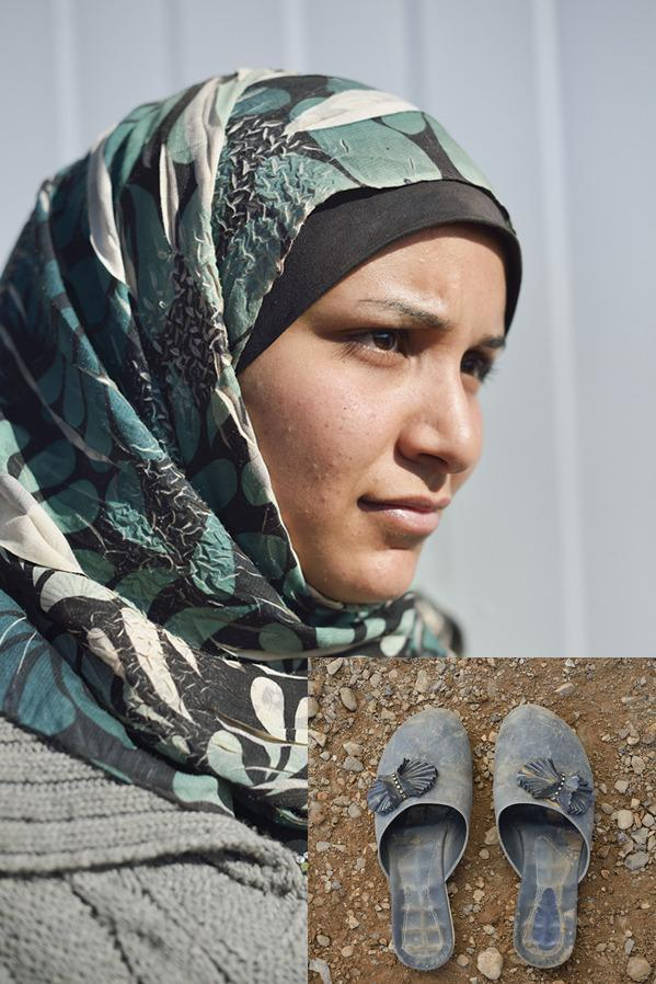 """<b>""""Rebels burnt our house down""""</b> <b>Israr, 20, was a local government employee from Damascus who fledthe city for Jordan with her family. She was too afraid to give her surname – fearing that extremist elements of the opposition back in Syria would harm her family if she spoke out.</b> """"I worked for the local government, so my family didn't participate in the anti-government protests. As a consequence, our home was looted and later burnt down. It was the only home in the street [the rebels] attacked. There was nothing left. All my possessions were burnt, the walls were black. """"After that we fled the neighbourhood at dawn. We slept wherever we could, and friends and strangers hosted us. At first my father had a car, but when we ran out of money he had to sell it. We only took the clothes we fled in. I decided to wear my best pair of shoes – I only bought this pair two months ago. Sometimes I would take them off and walk barefoot because I didn't want to ruin them. We walked for miles in the desert to reach Jordan. """"If I say something more about this or against al-Qaeda, who now control our area, they will kidnap a relative of mine in Syria [in revenge]. I am so afraid."""""""