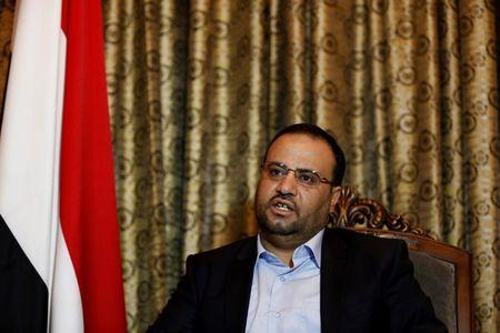 Saleh Saleh al-Sammad, who heads the Houthi-led Supreme Political Council, speaks during an interview with Reuters in Sanaa August 29, 2016. REUTERS/Khaled Abdullah