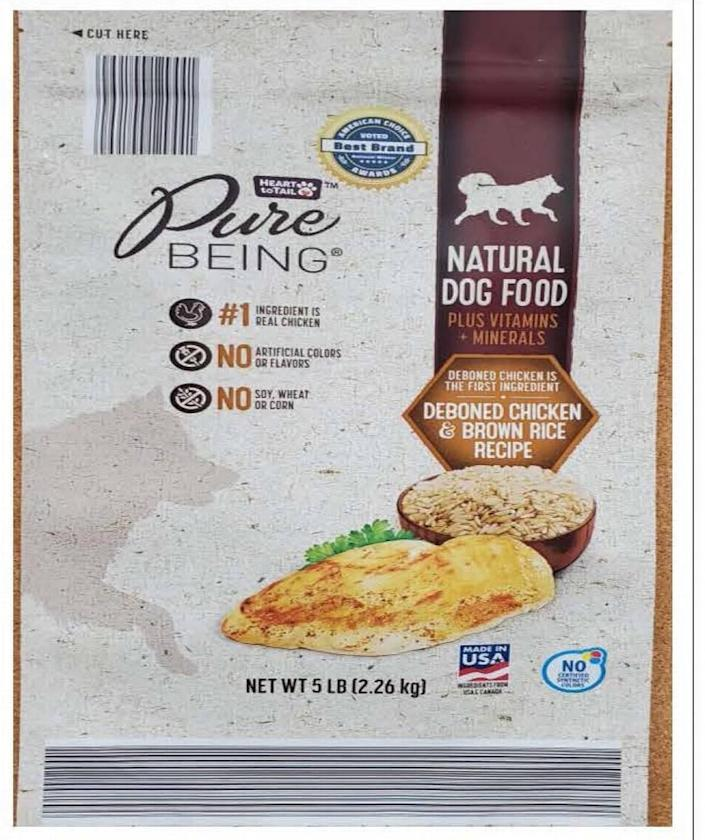 Heart to Tail Pure Being Natural Dog Food Deboned Chicken & Brown Rice Recipe