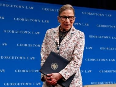 US Supreme Court Justice Ruth Bader Ginsburg hospitalised after fall at office; liberal icon suffers three fractured ribs