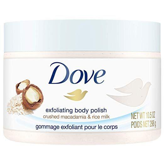 """<h3>Dove Exfoliating Body Polish Body Scrub</h3> <p>New York City-based dermatologist <a href=""""https://www.drhadleyking.com/"""" rel=""""nofollow noopener"""" target=""""_blank"""" data-ylk=""""slk:Hadley King"""" class=""""link rapid-noclick-resp"""">Hadley King</a>, MD, says to make sure the skin is soft and gently exfoliated before attempting any kind of hair removal in the area. """"Spend about 10 minutes in warm water to help soften the outer layer of skin, making it easier to remove hair and decreasing the risk of razor burn,"""" she says. """"It's also helpful to gently and lightly exfoliate with a warm wet washcloth or a gentle moisturizing scrub, like Dove's Exfoliating Body Polish with crushed macadamia and rice milk, which helps to release any ingrown hairs stuck under the surface of dead skin prior to shaving.""""</p> <br> <br> <strong>Dove</strong> Exfoliating Body Polish Body Scrub, $5.94, available at <a href=""""https://www.amazon.com/Dove-Exfoliating-Polish-Scrub-Macadamia/dp/B0794N16ZD?th=1"""" rel=""""nofollow noopener"""" target=""""_blank"""" data-ylk=""""slk:Amazon"""" class=""""link rapid-noclick-resp"""">Amazon</a>"""